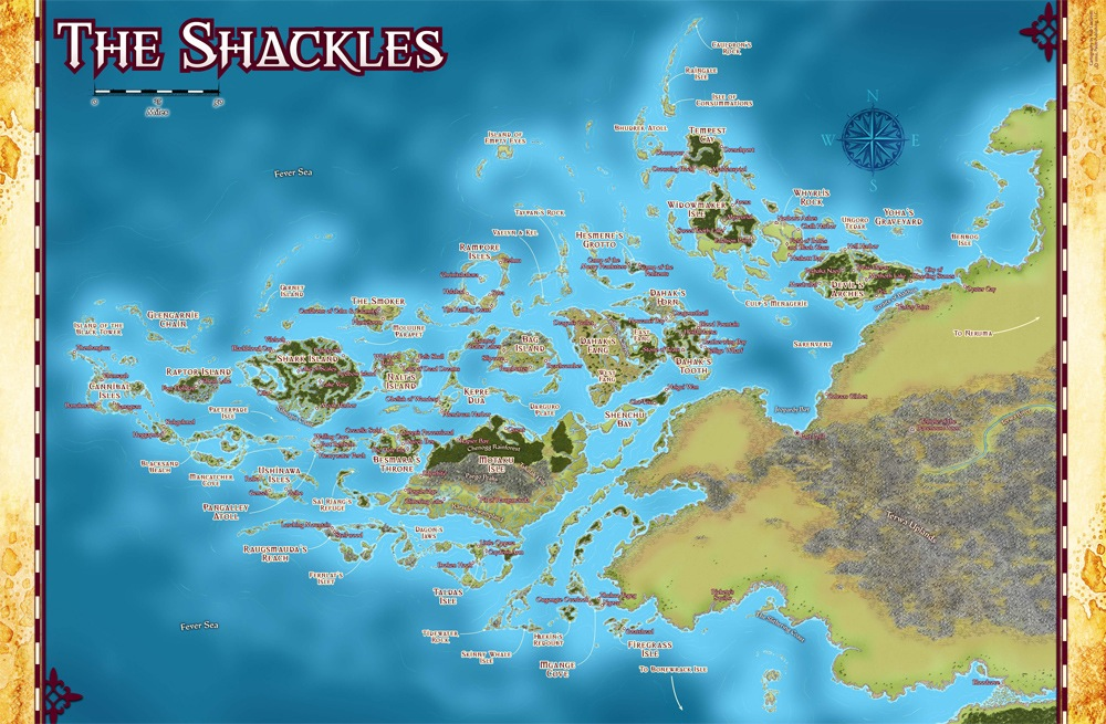 Continental Map: Shackle Islands