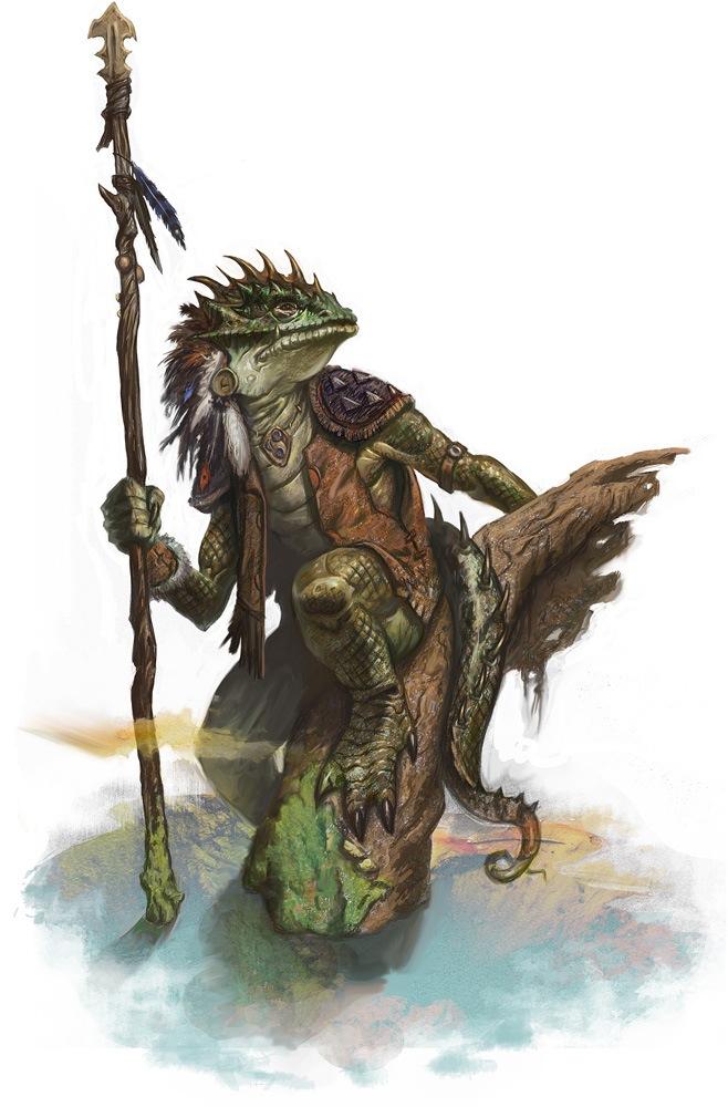 Korth - Lizardfolk Shaman(Druid) - Myth-Weavers