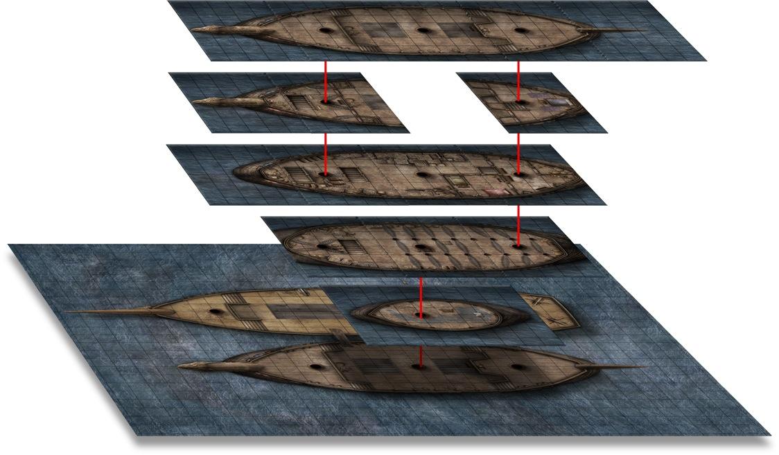Paizo Com Gamemastery Flip Mat Pirate Ship
