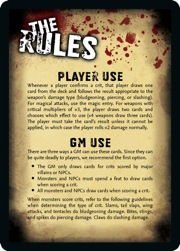 Rules card front