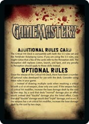 Additional rules card front