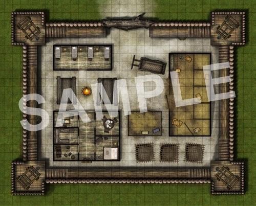 Paizo Com Gamemastery Flip Mat Bandit Outpost