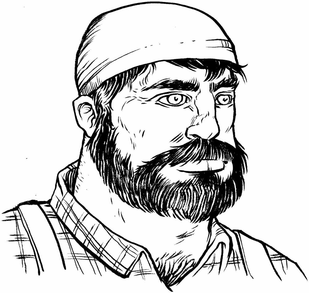 Free coloring pages of lumberjack