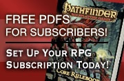 Free PDFs for Subscribers! Set up your RPG Subscription Today!