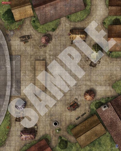 Paizo Com Pathfinder Flip Mat Classics Town Square