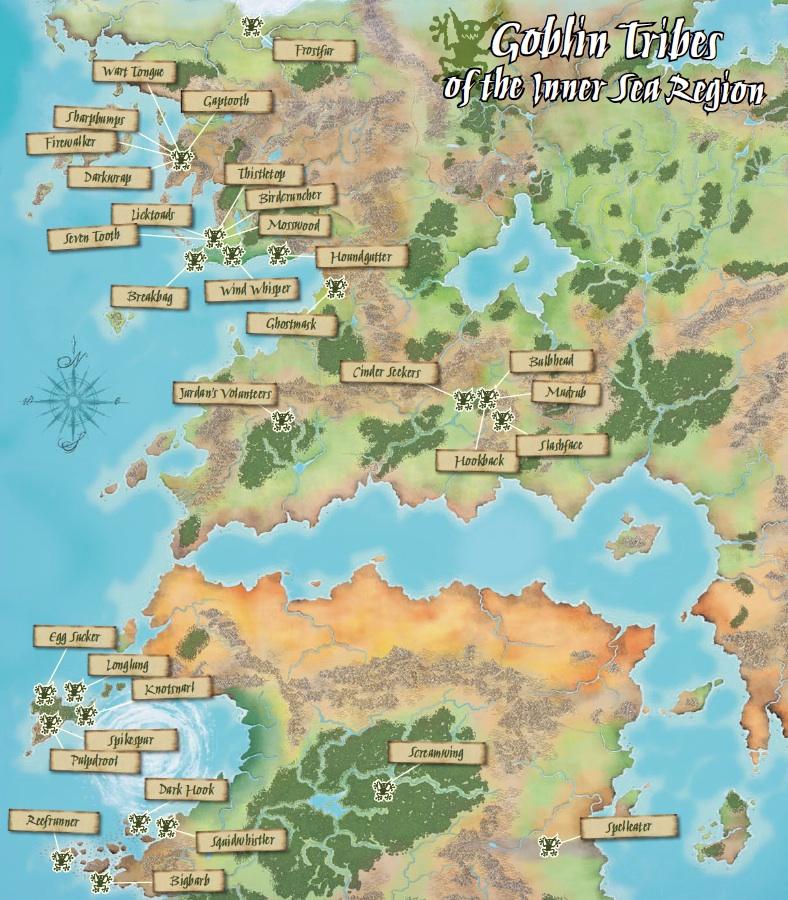 Pathfinder World Map