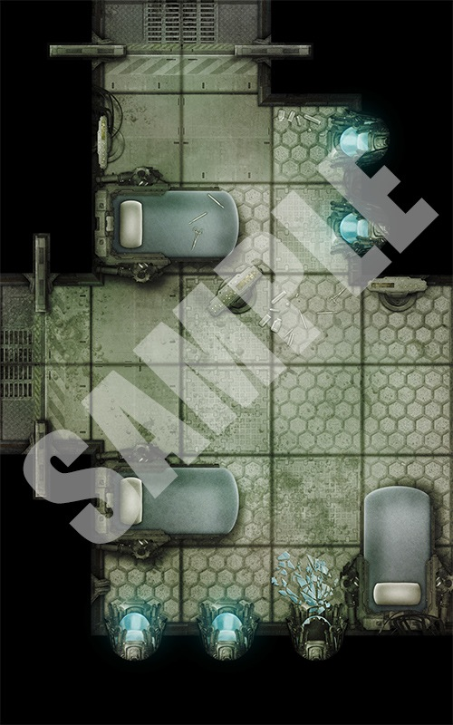 Paizo Com Pathfinder Map Pack Starship Chambers