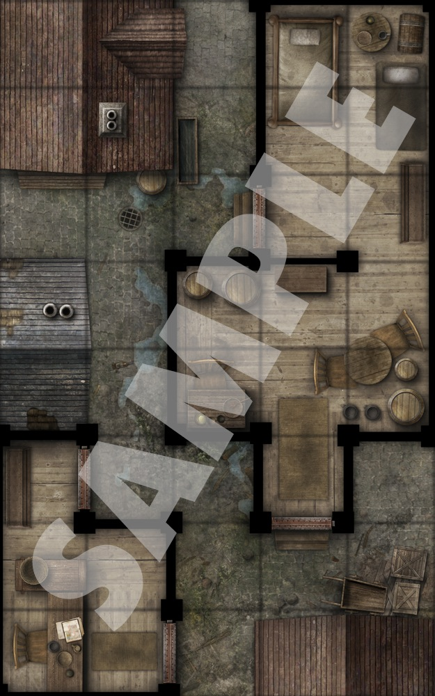 Paizo Com Pathfinder Map Pack Slum Quarter Alleys