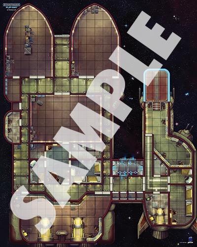 Paizo Com Starfinder Flip Mat Starship