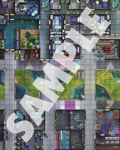 Paizo Com Starfinder Flip Mat Space Station