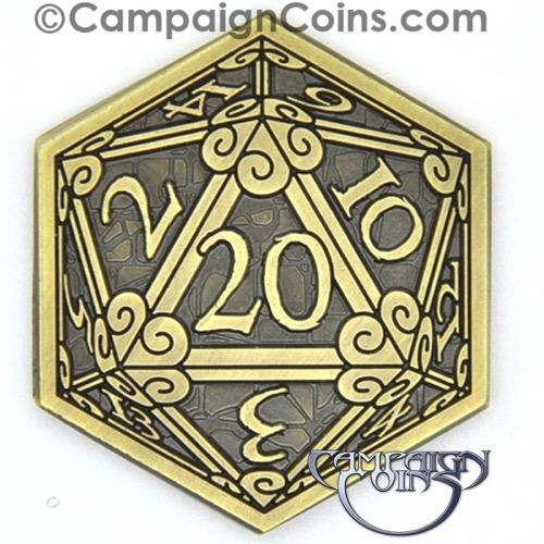 Paizo Com D20 Crits Or Fails Coins 10