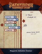 Game Mastery Combat Pad (T.O.S.) -  Paizo Publishing