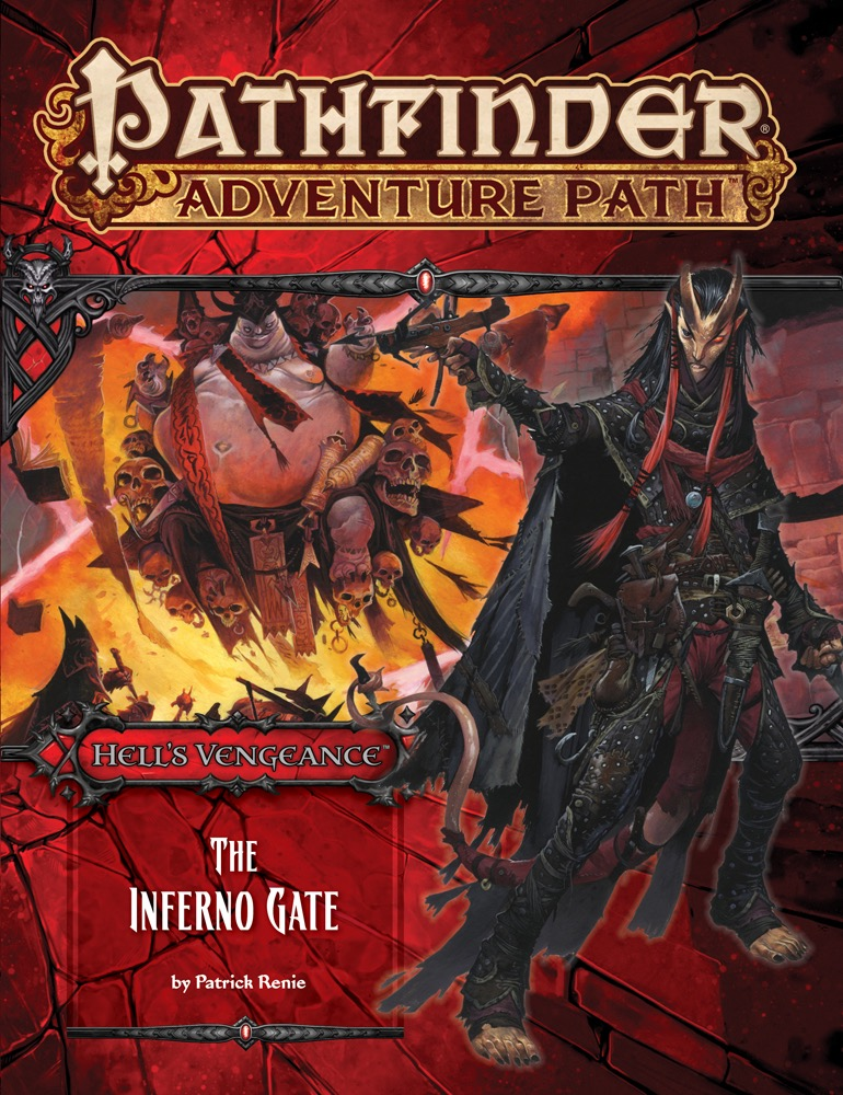 Cover of Pathfinder Adventure Path #105: The Inferno Gate (Hell's Vengeance 3 of 6)