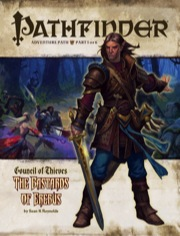 Cover of Pathfinder Adventure Path #25: The Bastards of Erebus (Council of Thieves 1 of 6)