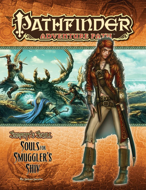 Cover of Pathfinder Adventure Path #37: Souls for Smuggler's Shiv (Serpent's Skull 1 of 6)