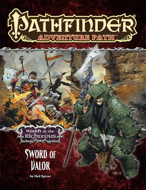 Cover of Pathfinder Adventure Path #74: Sword of Valor (Wrath of the Righteous 2 of 6)