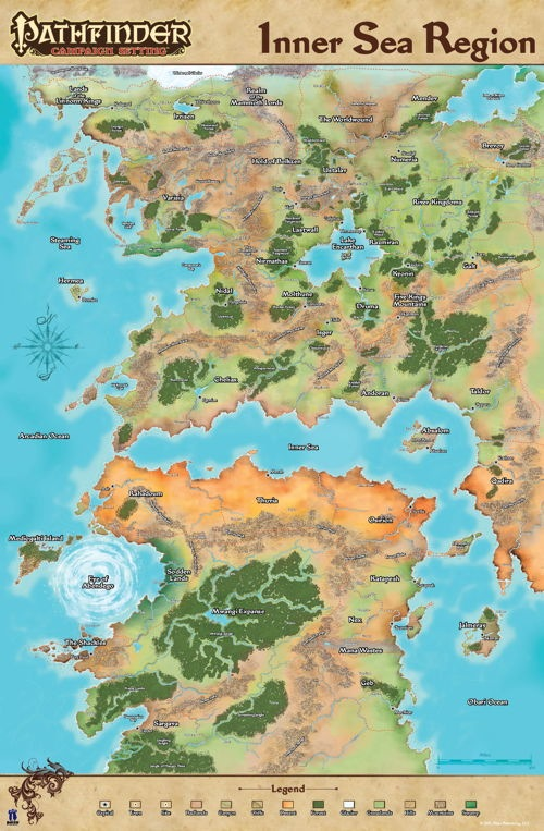 World Map   Eric's Pathfinder Campaign