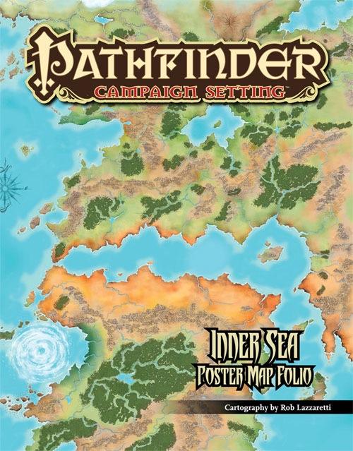 paizo pathfinder campaign setting inner sea poster map folio
