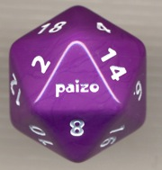 Paizo Purple d20 Die (34mm)