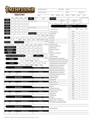 Pathfinder rpg character sheet pdf for Bureau 13 rpg pdf