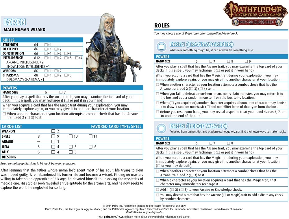 paizo.com - Community Use Package: Pathfinder Adventure Card Game ...