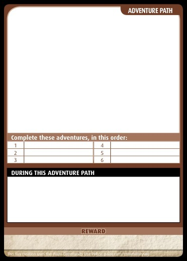 ... Community Use Package: Pathfinder Adventure Card Game Card Templates