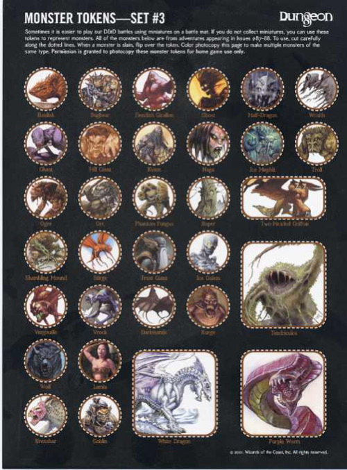 Sly image for d&d printable monster tokens