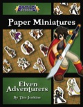 Battle! Studio Paper Minis: Elven Adventurers PDF