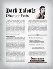 Dark Talents: Dhampir Feats (PFRPG) PDF