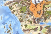 Forgotten Realms Poster Map: Upper Left Quadrant