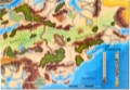 Forgotten Realms Poster Map: Lower Right Quadrant