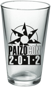 PaizoCon 2012 Pint Glass