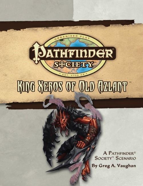 Cover of Pathfinder Society Scenario #20: King Xeros of Old Azlant