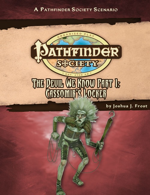Cover of Pathfinder Society Scenario #30: The Devil We Know—Part II: Cassomir's Locker