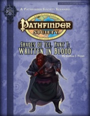 Pathfinder Society Scenario #2-15: Shades of Ice—Part I: Written in Blood (PFRPG) PDF