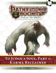 Pathfinder Society Scenario #7–08—To Judge a Soul, Part 2: Karma Reclaimed (PFRPG) PDF