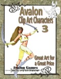 Avalon Clip Art Characters #3: Warrior Woman PDF