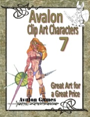 Avalon Clip Art Characters #7: Warrior Woman 2 PDF