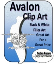 Avalon Clip Art: Black & White Filler PDF