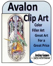 Avalon Clip Art: Color Filler PDF