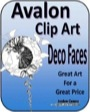Avalon Clip Art: Deco Faces PDF