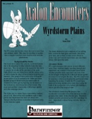Avalon Encounters—Vol 2, Issue #1: Wrydstorm Plains (PFRPG) PDF