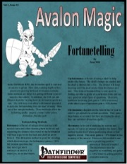 Avalon Magic—Vol 1, Issue #3: Fortunetelling (PFRPG) PDF