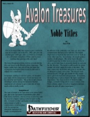 Avalon Treasure—Vol 1, Issue #3: Noble Titles (PFRPG) PDF