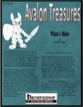 Avalon Treasure—Vol 1, Issue #11: What's Mine (PFRPG) PDF