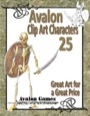 Avalon Clip Art Characters #25: Skeleton PDF