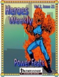 Heroes Weekly, Vol. 3, Issue #21: New Power Feats (PFRPG) PDF