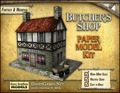 Butcher's Shop Paper Model PDF