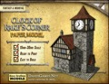 Clock of Rake's Corner Paper Model PDF
