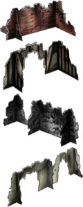 Crosspiece Ruins Set #2 30mm Paper Models PDF